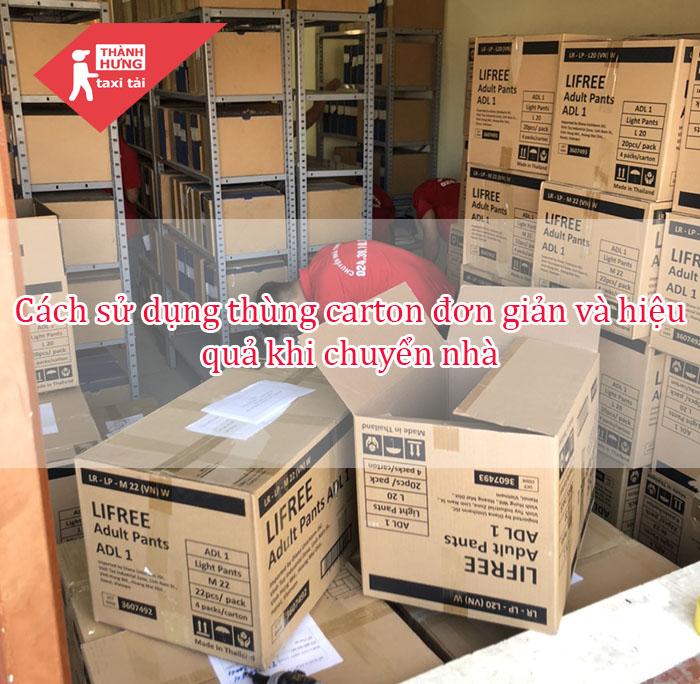 cách sử dụng thùng carton khi chuyển nhà