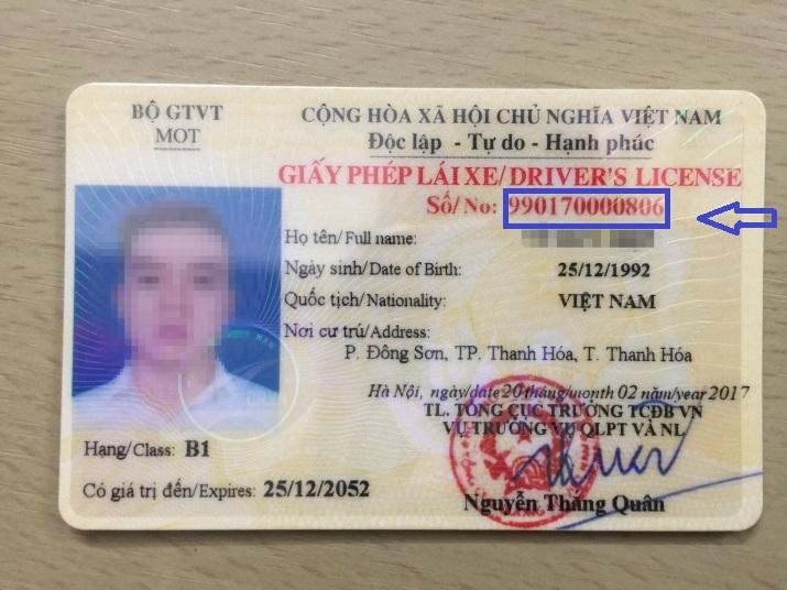 kiểm tra giấy phép lái xe thật hay giả