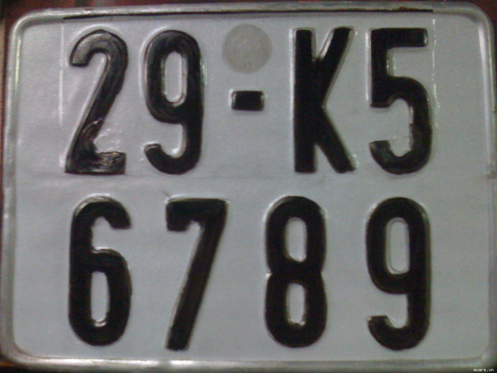 Công thức tính biển số xe 5 số