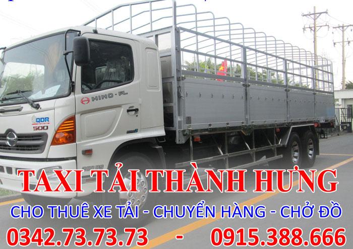 Cho thuê xe tải 15 tấn Thái Bình đi Tp. HCM