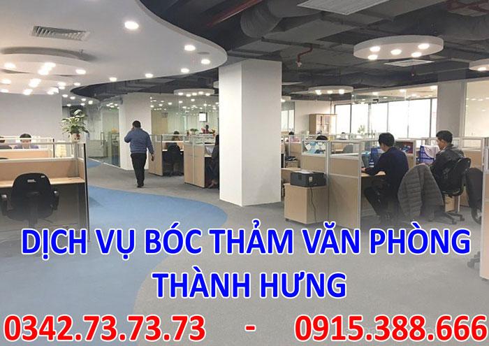 Dịch vụ bóc thảm văn phòng tại Hà Nội giá rẻ