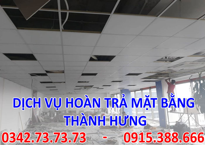 Dịch vụ hoàn trả mặt bằng uy tín chất lượng tại Hà Nội