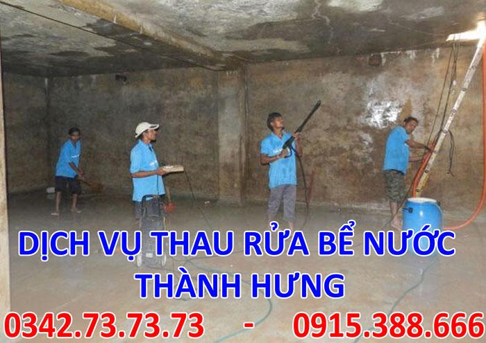 Dịch vụ hút nước, làm sạch bể ngầm uy tín tại Hà Nội