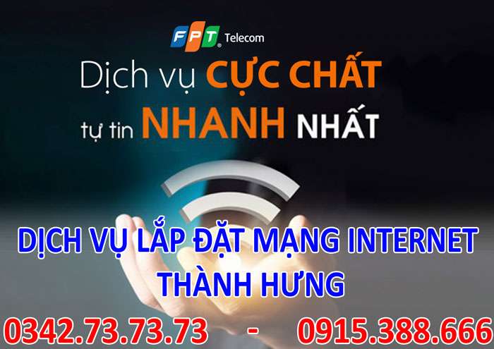 Dịch vụ lắp đặt mạng INTERNET giá rẻ