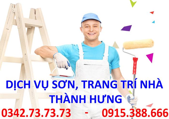 Dịch vụ sơn, trang trí nhà cửa tại Hà Nội