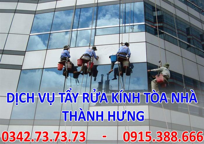 Dịch vụ tẩy rửa kính tòa nhà tại Hà Nội giá rẻ