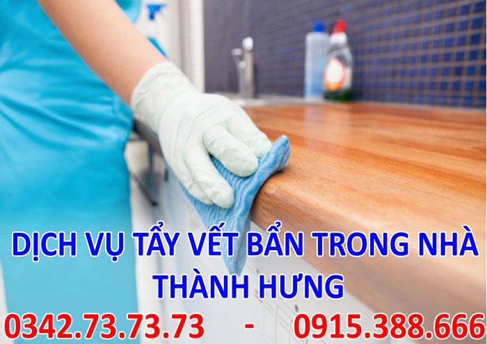 Dịch vụ tẩy vết bẩn trong nhà tại Hà Nội giá rẻ