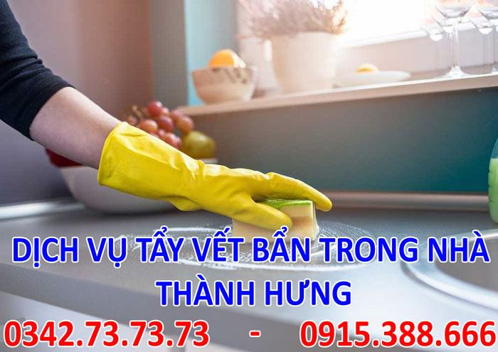 Dịch vụ tẩy vết bẩn trong nhà tại Hà Nội