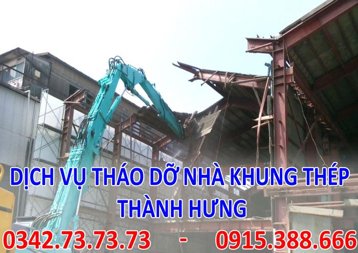 Dịch vụ tháo dỡ nhà khung thép tại Hà Nội