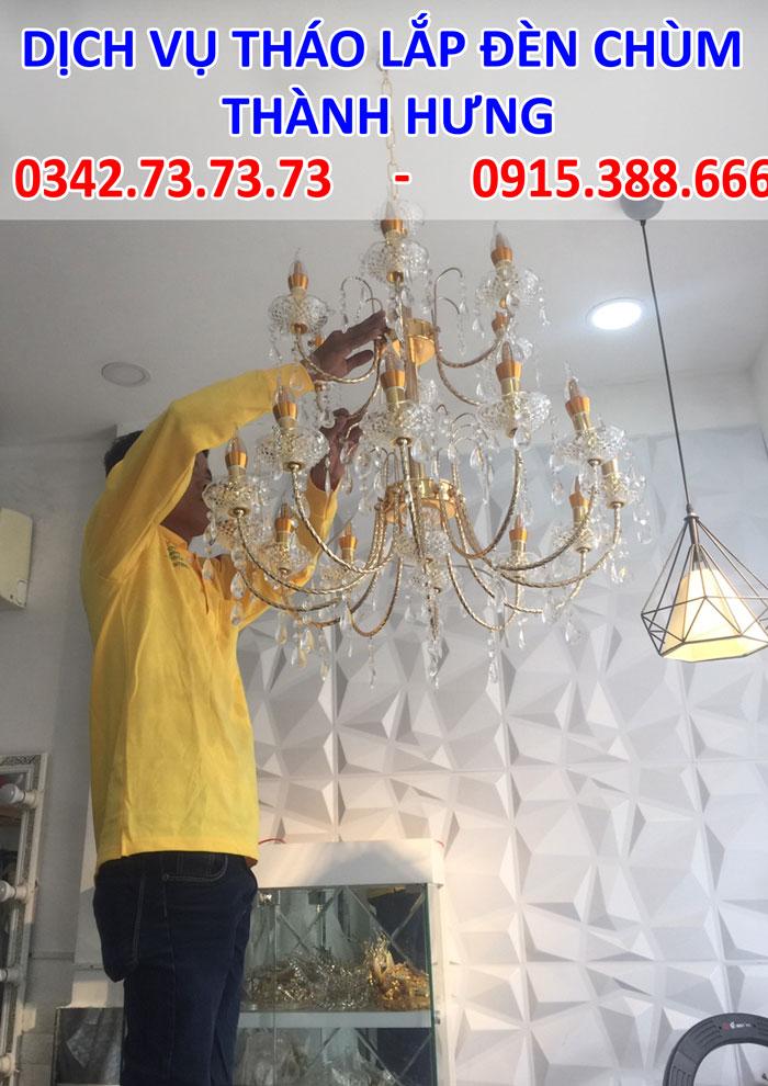 Dịch vụ tháo lắp đèn chùm tại Hà Nội giá rẻ