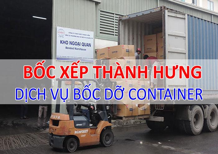 Dịch vụ bốc dỡ container Thành Hưng