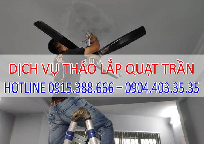 Dịch vụ tháo lắp quạt trần tại Hà Nội