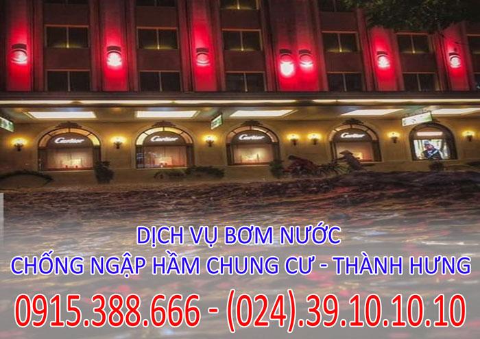 Dịch vụ bơm nước chống ngập hầm chung cư tại Hà Nội