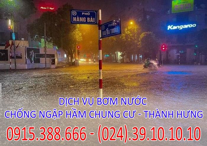 Dịch vụ bơm nước chống ngập hầm chung cư - Thành Hưng