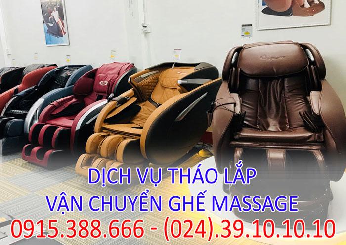 Dịch vụ tháo lắp vận chuyển ghế massage theo yêu cầu