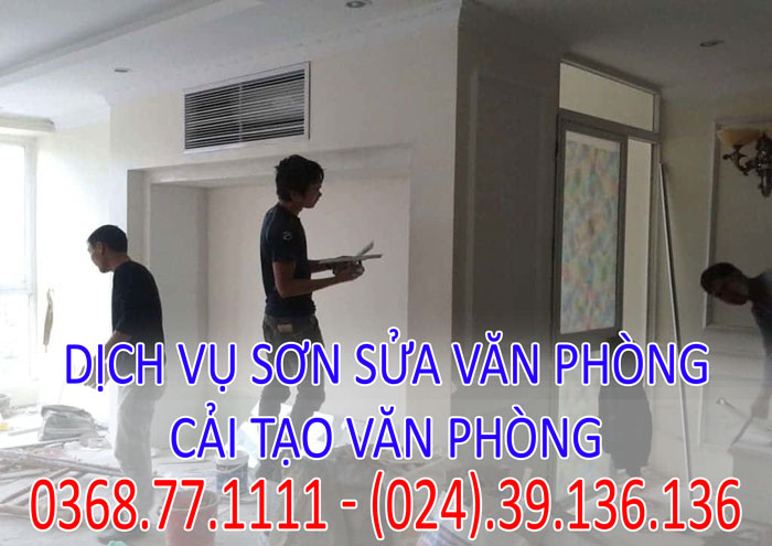 Dịch vụ sơn sửa văn phòng giá rẻ
