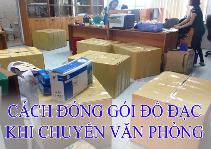 cách đóng gói đồ khi chuyển văn phòng