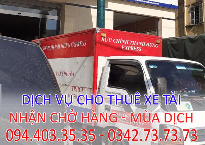 Dịch vụ cho thuê xe tải thùng kín