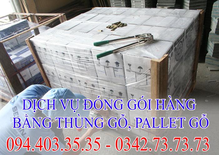 dịch vụ đóng gói hàng bằng thùng gỗ ,balet gỗ giá rẻ