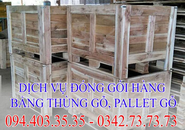 dịch vụ đóng gói hàng bằng thùng gỗ ,balet gỗ