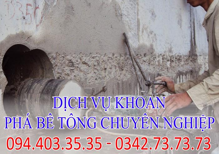Dịch vụ khoan phá bê tông chuyên nghiệp tại Hà Nội