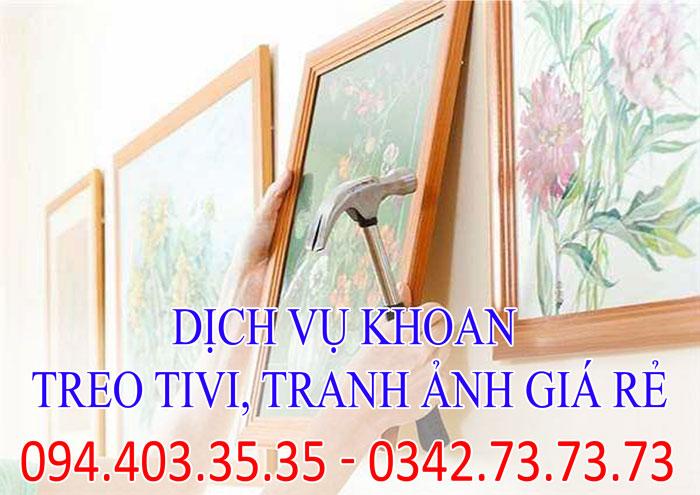 Dịch vụ khoan treo tivi, tranh ảnh giá rẻ tại Hà Nội