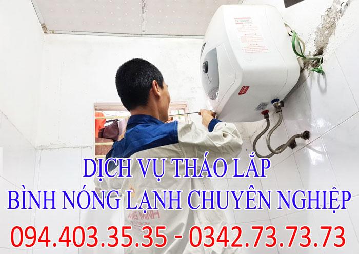 Dịch vụ tháo lắp bình nóng lạnh chuyên nghiệp tại Hà Nội