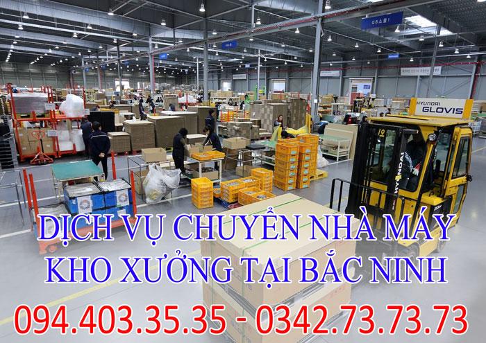 Dịch vụ chuyển nhà máy, kho xưởng tại Bắc Ninh