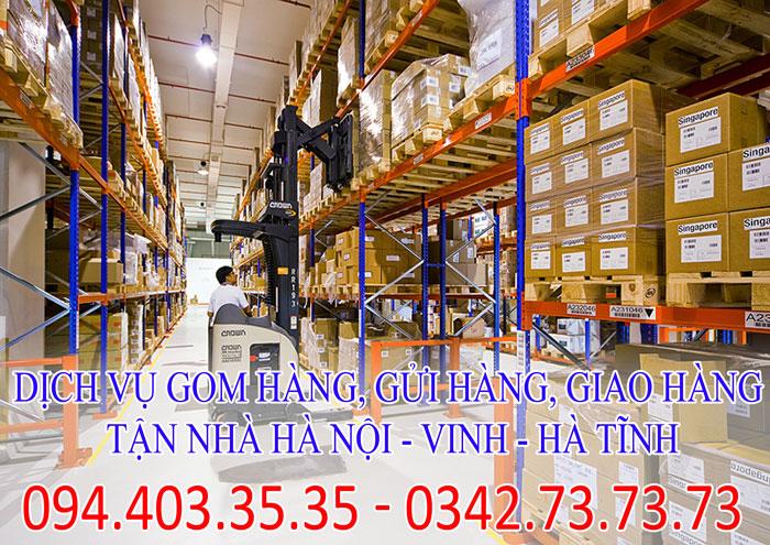 Dịch vụ gom hàng, gửi hàng, giao hàng tận nhà Hà Nội - Vinh - Hà Tĩnh